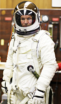 Felix Baumgartner in Pressure Suit