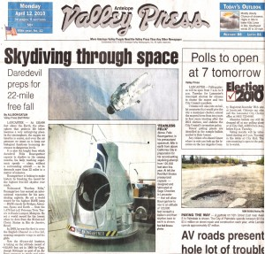 Antelope Valley Press Cover Page