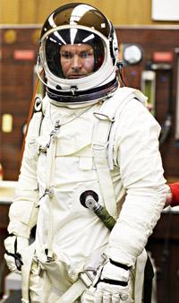Felix Baumgartner in Pressure Suit